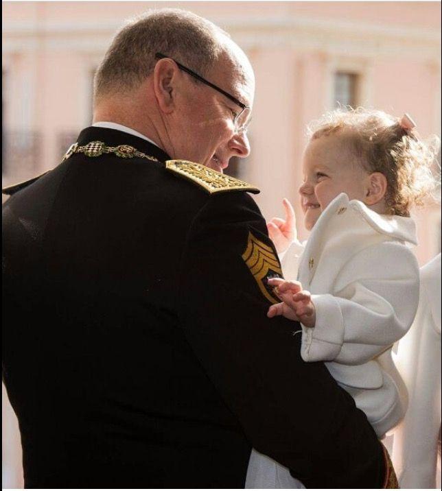 Prince Albert of Monaco with his daughter Gabriela