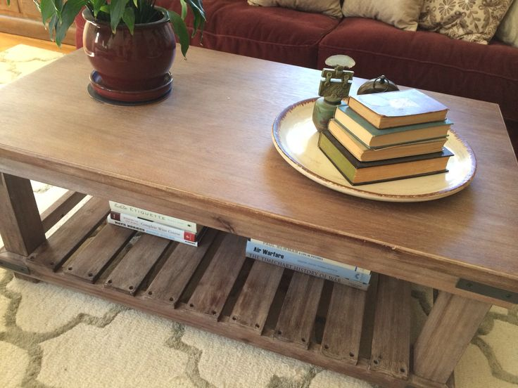 Wanted A Rustic Coffee Table To Lighten Up The Room