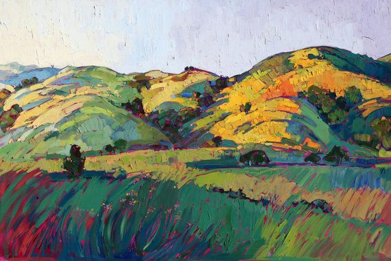 Wine Country California Landscape Impressionism by redrockfineart, $150.00