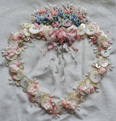 gorgeous silk ribbon embroidery
