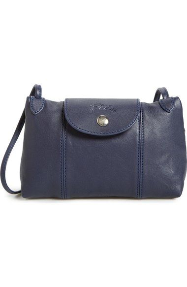 Longchamp 'Le Pliage - Cuir' Crossbody Bag available at #Nordstrom