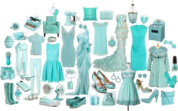 """Robin's Egg, Aqua, Tiffany....it's all blue to me!"" by cheermom511 on Polyvore"