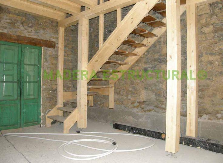 M s de 25 ideas incre bles sobre escaleras de madera - Escalera tres peldanos ...