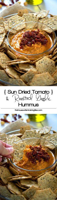 Sun Dried Tomatoes Hummus, Without Tahini, Recipe, Gluten Free, Snacks, Roasted Garlic, Creamy, Healthy, Easy, Snacks