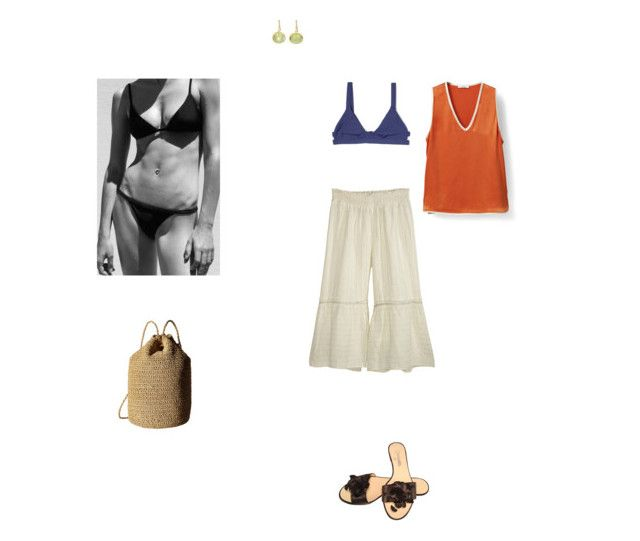 """lack of aesthetic"" by thisisnotmyname ❤ liked on Polyvore featuring Calypso St. Barth, Tavik Swimwear, Judy Geib, Chanel, Hat Attack and Sanders"