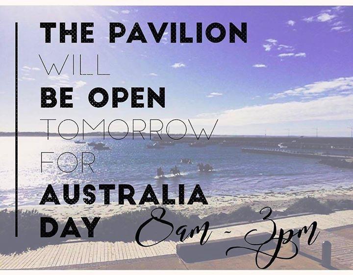 #Repost @pavilioncafebar  Open Australia Day     breakfast 8 - 11:45 lunch 12 - 2 closing at 3pm. See you tomorrow  #australiaday #warrnambool #love3280 #destinationwarrnambool http://ift.tt/2krTTas