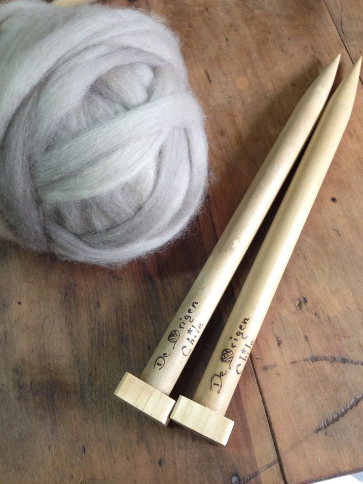 Super Bulky Yarn and 25 mm. knitting Needles  https://www.etsy.com/listing/178091128/u-size-knitting-needle-50-us-25-mm?ref=shop_home_active_5