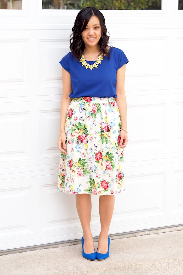 Floral Skirts and Blue Suede Shoes