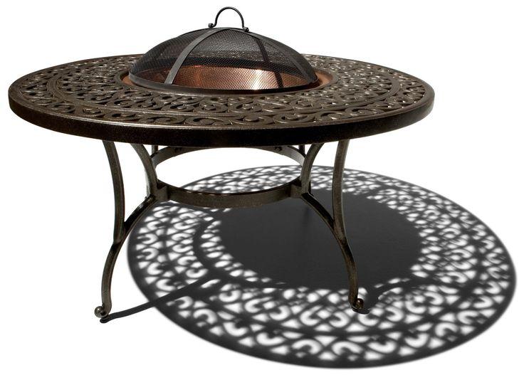 Amazon.com: Strathwood St. Thomas Cast-Aluminum Fire Pit with Table: Patio, Lawn & Garden   Fire ...