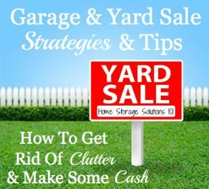 Sales Strategy Yard Sales And Clutter On Pinterest