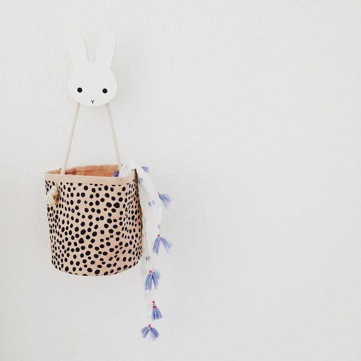 Mini rose billy basket in 100% Organic cotton from ferm LIVING Kids. Køb online på Filur.dk #filurdk #flot #design
