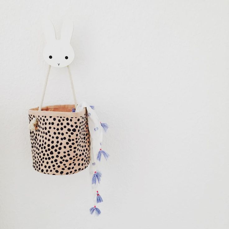 Mini rose billy basket in 100% Organic cotton from ferm LIVING Kids. Køb online på Filur.dk #filurdk #flot #design