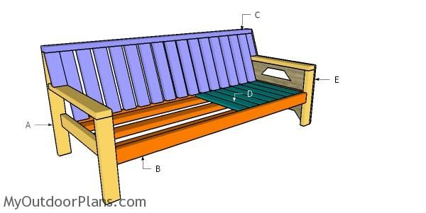 2x4 Outdoor Sofa Plans Myoutdoorplans Free Woodworking Plans And Projects Diy Shed Wooden Playhouse Outdoor Furniture Plans Outdoor Sofa Wooden Playhouse