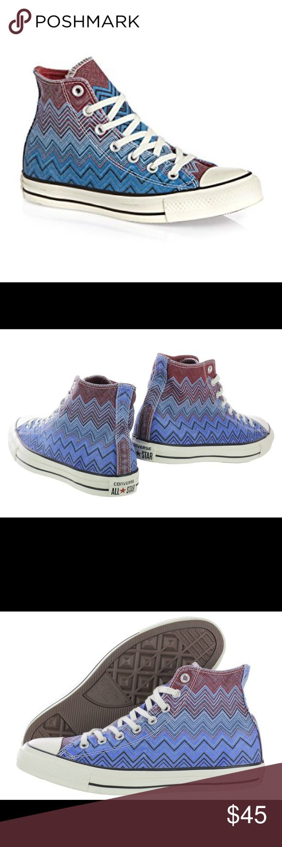 FLASH SALE Converse all Star Missoni shoes Brand new with box. Ct hi color: ocean/cas ocean/ casion. Womens Converse Shoes Sneakers