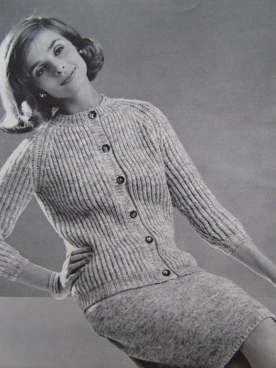1960's Knitting Patterns Vintage Pattern PDF by vintageknitcrochet, $3.00