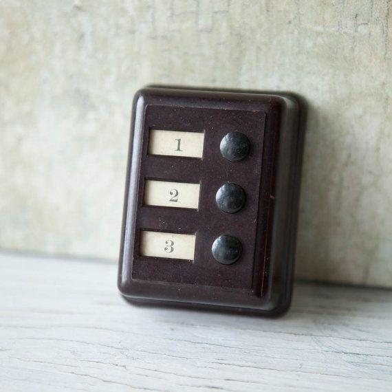 1920s Bakelite Phone Switch, Bakelite Apartment Buzzer, Art Deco Movie Set,
