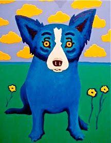 blue dog art                                                                                                                                                     More