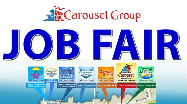 The Carousel Group will be holding an onsite Job Fair Tuesday, February 27th from 10am to 5pm for the following positions: Night Auditor Reservationist Front Desk Clerk Housekeeping Supervisors Room Attendant Houseperson Security/Guest Services Maintenance Recreation Attendant Hostess/Cashier Banque...