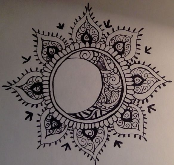 sun mandala tattoo - Google Search