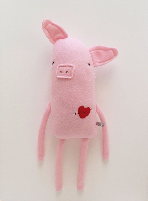 Love Pig with Heart and Arrow Tattoo - Valentine's Day - Finkelstein's Center Handmade Creature