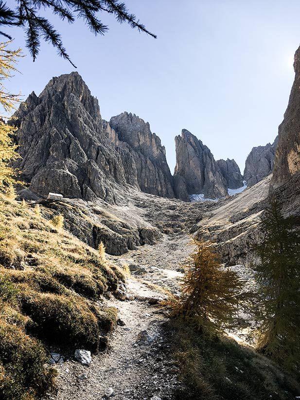 Wanderung durch die Langkofelscharte