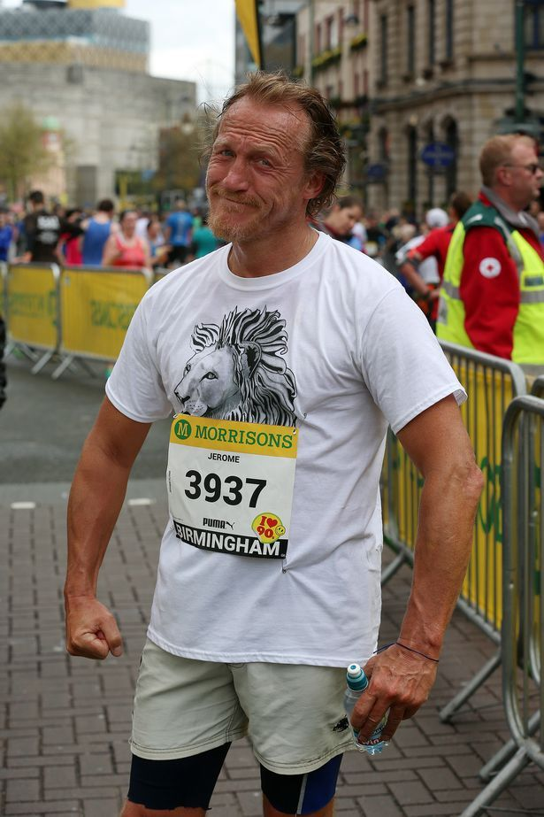 Jerome Flynn and a lion t-shirt.  Wonderful.