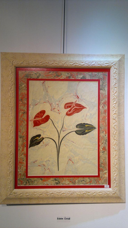 Ebru sanatında Barış Çiçeği