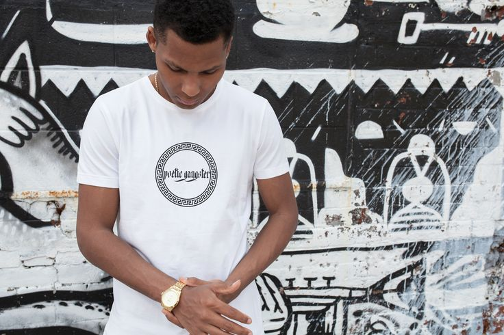 Poetic Gangster Classic Greek Design Logo Mens T-Shirt, Street Style At Its Best !