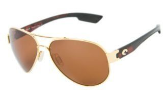Costa Del Mar Sunglasses - South Point- Glass / Frame: Gold Lens: Polarized Dark Amber 400 Glass Costa Del Mar. $176.99