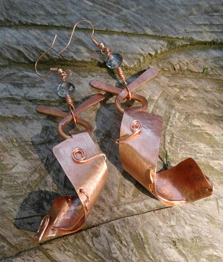 "New Earrings call ""serenity"" crafted on the peace of the mountain 