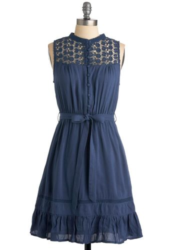 Mount San Jacinto Dress in Blue, #ModCloth