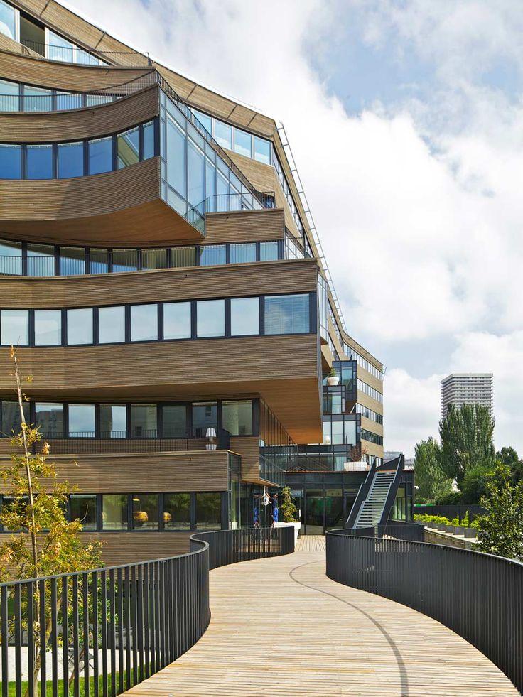 MVRDV - The Pushed Slab building/ Paris