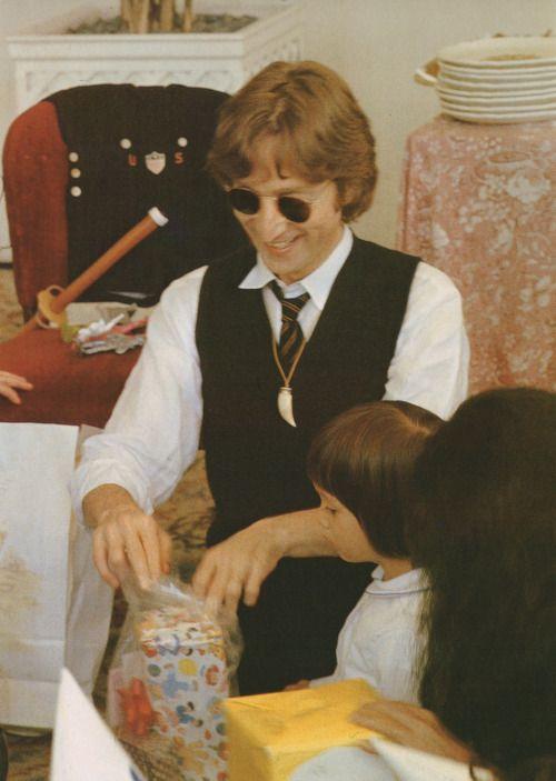 John Lennon and his son Sean