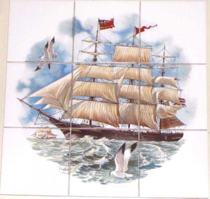 Ship Tile Mural http://www.houzz.com/photos/45165356/lid=32112782/Ship-Ceramic-Tile-Mural-Atlantic-Mermaid-9pc-425-Ocean-Backsplash-Kiln-Fired-beach-style-tile-murals
