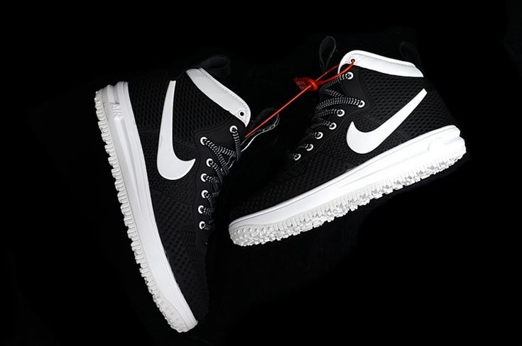 Nike LUNAR FORCE 1 DUCKBOOT Fashion Shoes Men Black White
