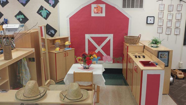Preschool-Dramatic Play Farm with a barn