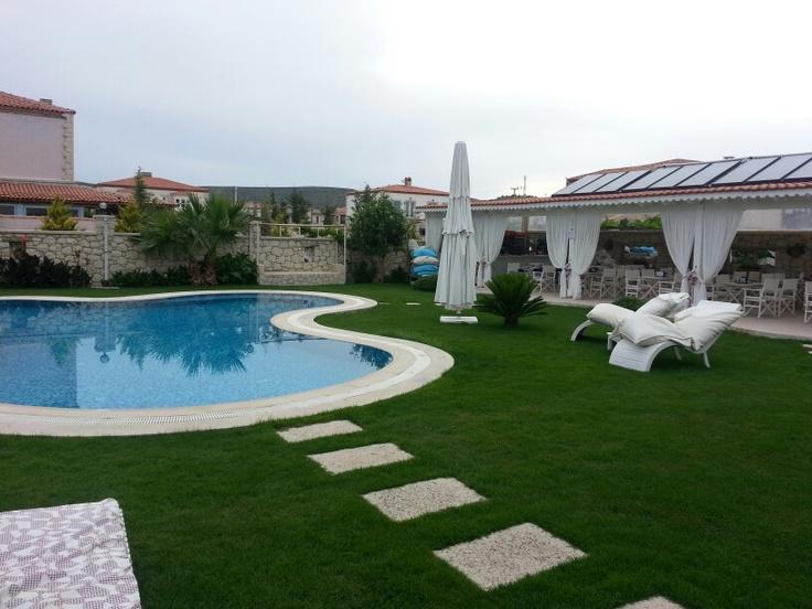 Well decorated garden in Alabella Hotel Alacati