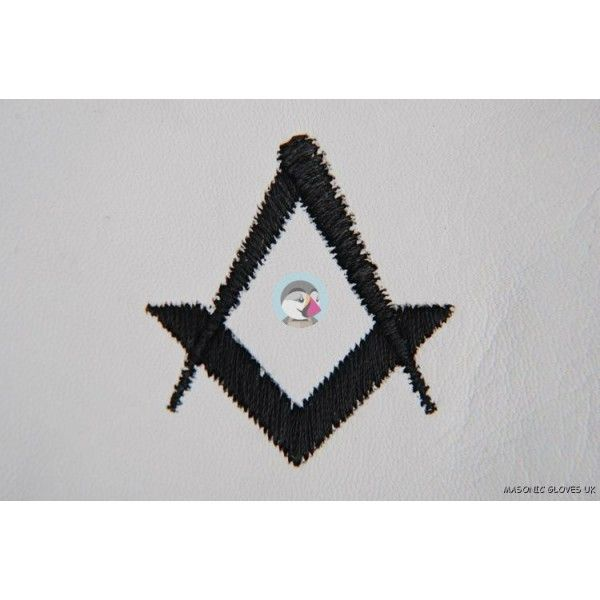 Freemason Masonic Gloves In Real Kid Leather With Black S & C