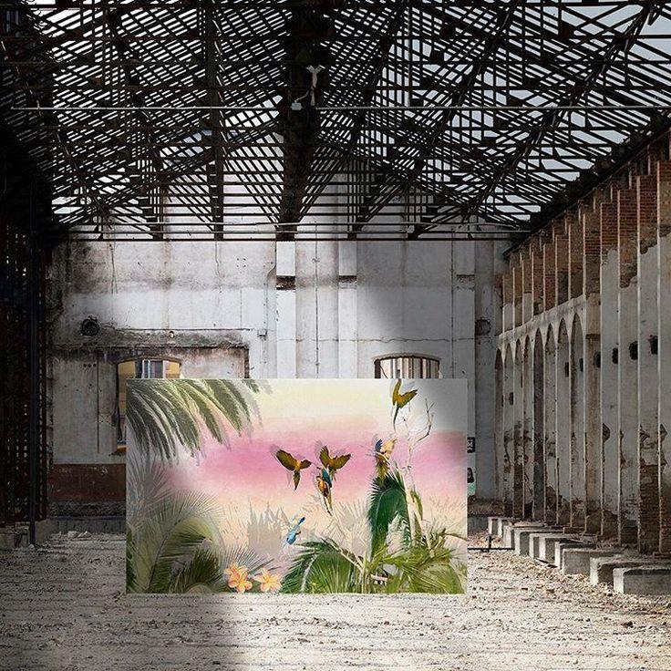 """#Repost @officinarkitettura   FUORISALONE 2017 - OFFICINARKITETTURA    CERAMICPAPER """"POSTCARDS""""   Store 120%Lino - via Pontaccio 19 - Milano    Project """"POSTCARDS"""" presso Stu Reggiane Spa  """"Viaggio in Amazzonia"""" by arch. Lucia Marcaccini    Fotographic project: @ Davide Bartolai  Art Direction: @ Arianna Gennaro  Location: Stu Reggiane Spa  #120lino #Fuorisalone2017 #decoration #interiordesign #decor #project #design #fashion #breradesigndistrict #milandesignweek #milano #store #120percento"""