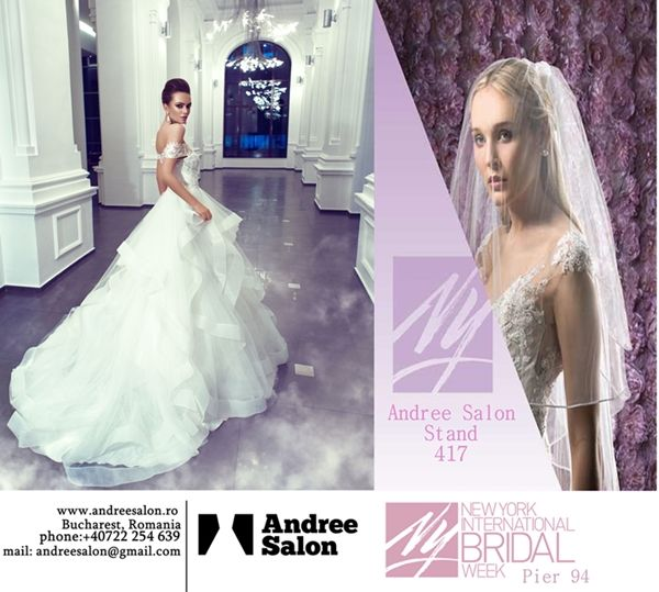 Andree Salon is excited to announce the participation at New York International Bridal Week http://goo.gl/hH7Rma Find more about us on our website- http://goo.gl/pdNdsM You can find us at 417 stand and enjoy the new collection!  10-12 October 2015