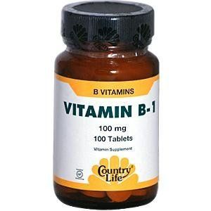Country Life Vitamin B-1 100 Mg, 100-Count by Country Life. $5.30. Dietary supplement