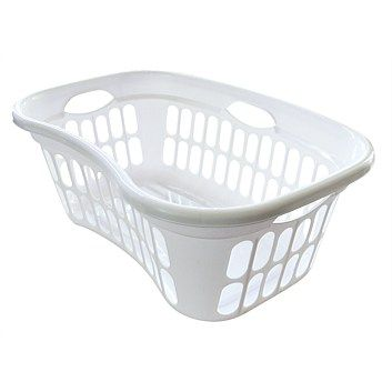 Clothes Baskets - Laundry Products - Briscoes - Laundry Basket Plastique White