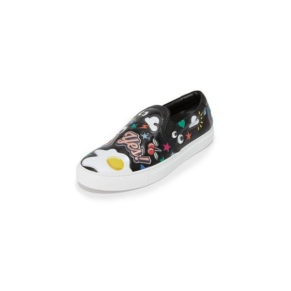 Anya Hindmarch Skater Sneakers with Allover Stickers CNY) ❤ liked on…