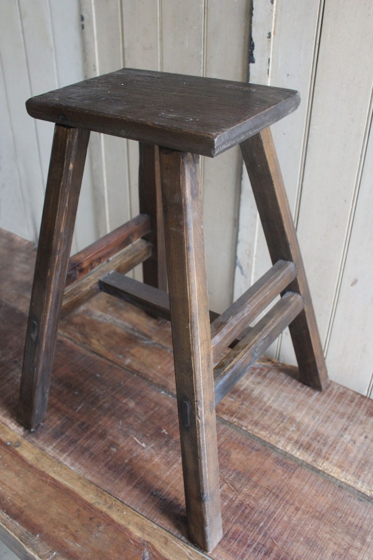 Wooden Stool Stools Rustic Wooden Shelves Wood Stool