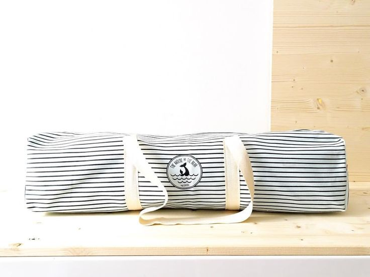 Navy stripes Yoga mat bag by The Mochi & The Bear