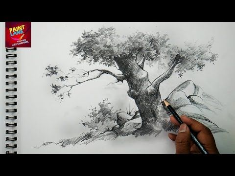 how to draw a scenery sunset pencil drawing
