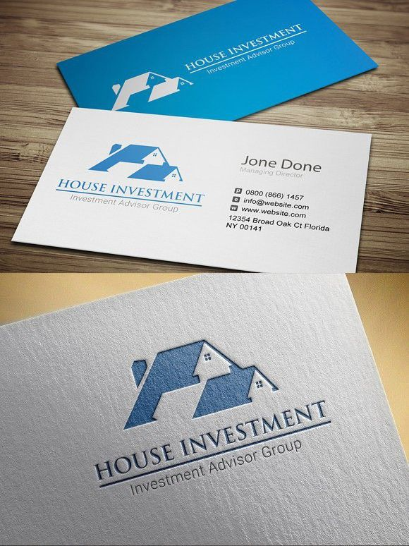 House Investment Business Investors Fun Business Card Design Business Card Template