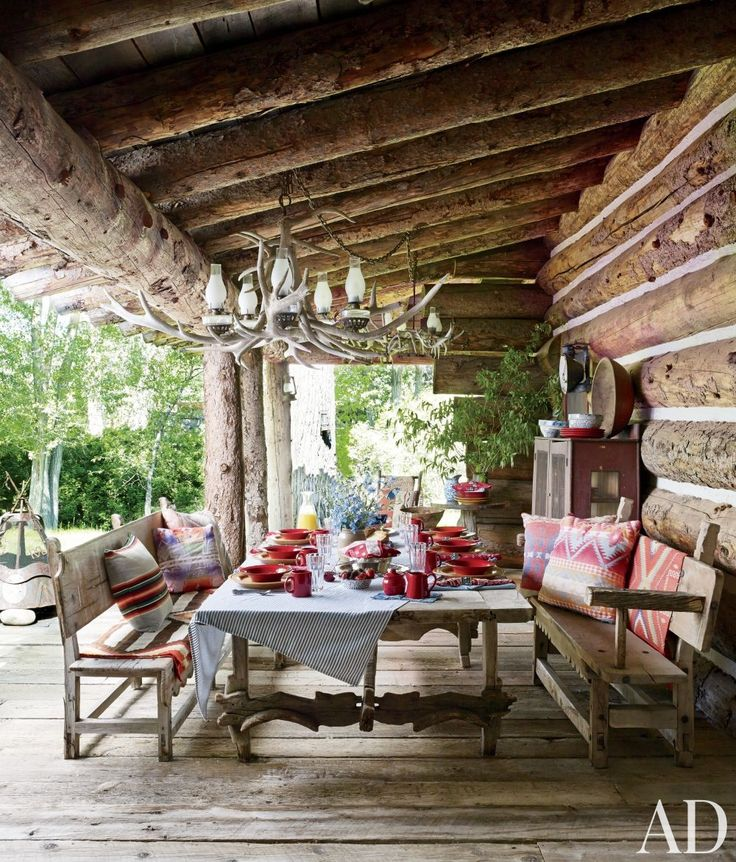 rustic home decor | Rustic Outdoor Space by Ralph Lauren | AD DesignFile - Home Decorating ...