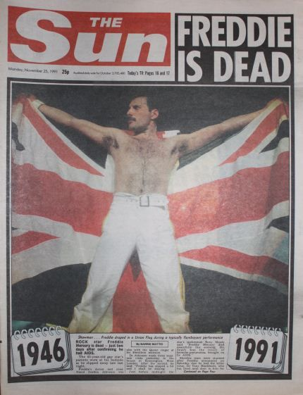 Image result for queen's freddie mercury dies