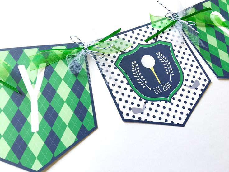 Golf Party Banner, Golf Birthday Banner, Golf Baby Shower Banner, Golf Party Decorations, Golf Themed Banner, Baby Shower Banner, Banner by sweettalkdesigns on Etsy https://www.etsy.com/listing/281224018/golf-party-banner-golf-birthday-banner